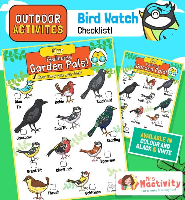Outdoor Activities - Bird Watch Checklist