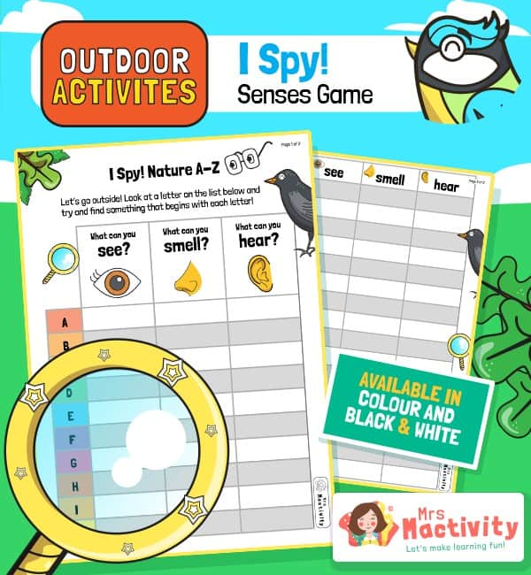 Outdoor Activities - I Spy Senses Game