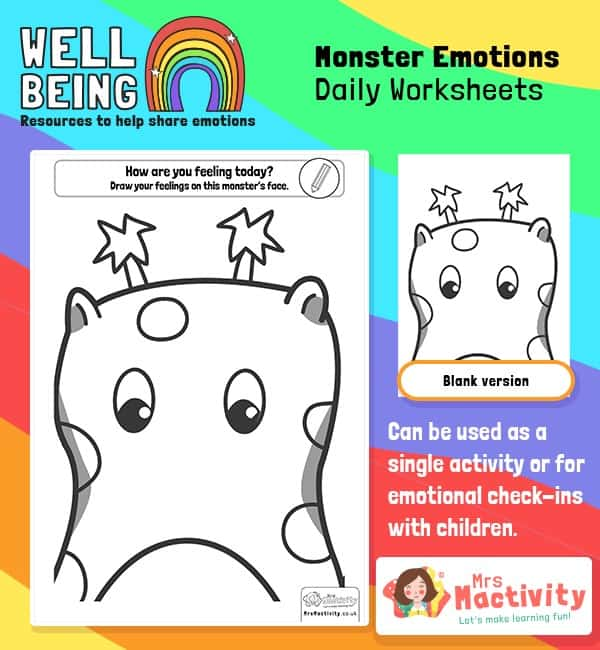 Monster Emotions Activity