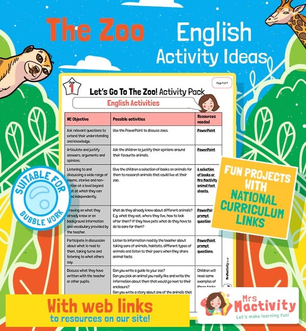 Zoo English Activities