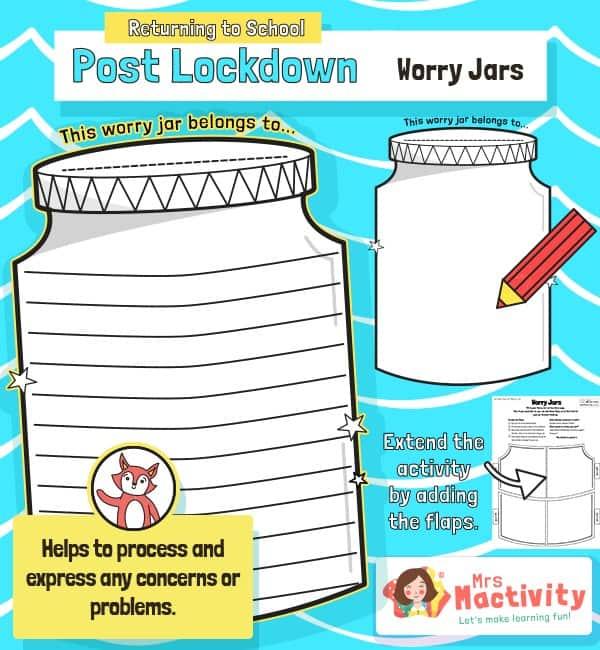 Post Lockdown Worry Jar Activity
