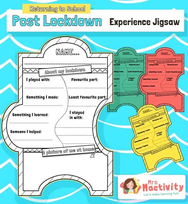 Post lockdown jigsaw activity
