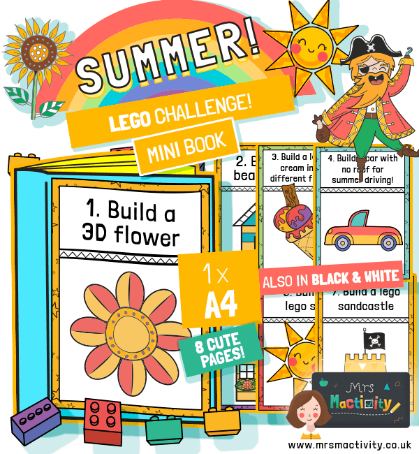 Summer Lego Challenge Mini Book
