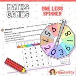 EYFS One less number spinner