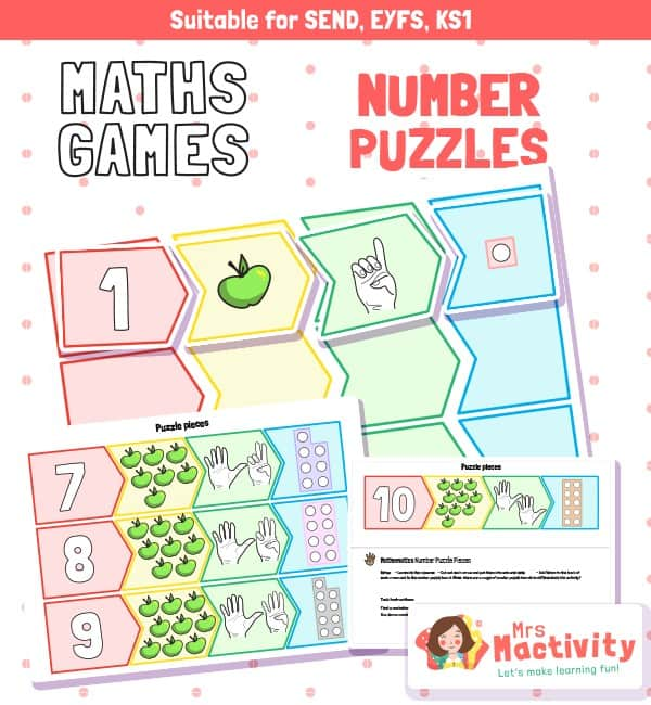 EYFS Maths Number Puzzle Activity