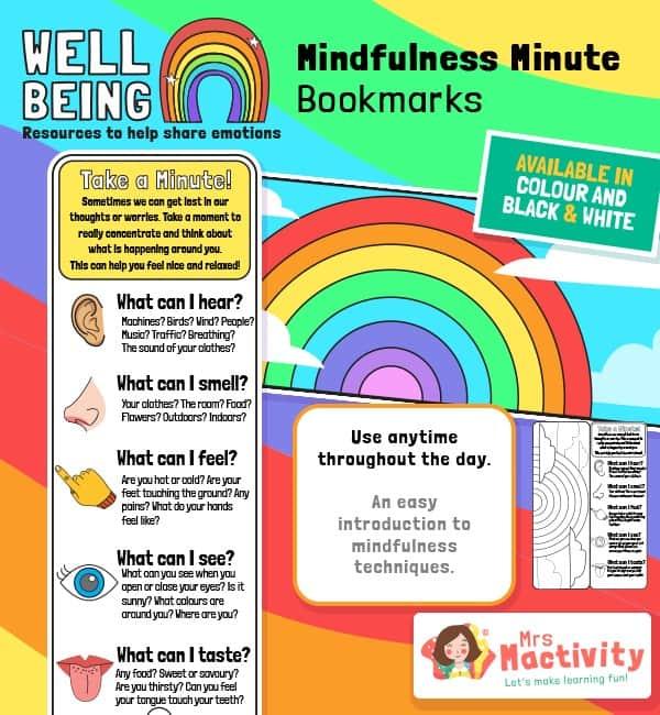 Mindfulness Minute Bookmark