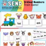 SEND P8 Ordinal Numbers Train Ordering Game