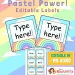 Pastel Classroom Peg Labels