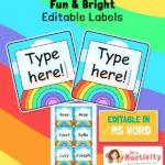 Rainbow Classroom Peg Labels