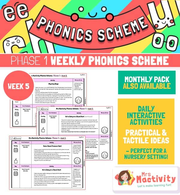 Phonics Scheme - Phase 1 Week 5