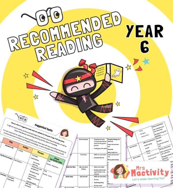 Reading Book Recommendations YEAR 6