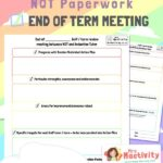 NQT Half Termly Review Template
