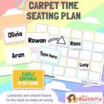Classroom Essentials Editable Carpet Time Seating Plan