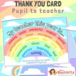 Teacher Word Cloud End of Year Thank You Card