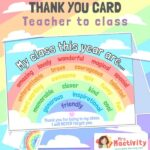 Pupil Word Cloud End of Year Card