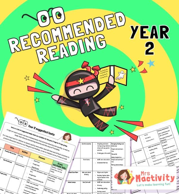 Year 2 recommended book list