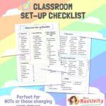 Classroom Set-up Checklist