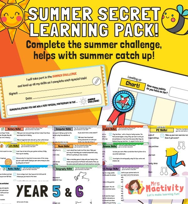 Upper KS2 (Age 9-11) Summer Catch-up Resource Pack