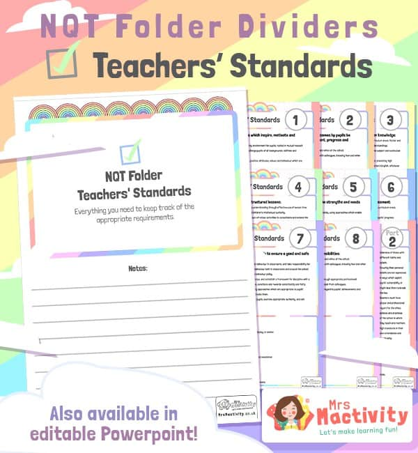 NQT Folder - Teachers' Standards