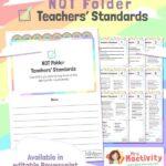 NQT Folder - Teachers' Standards - Editable