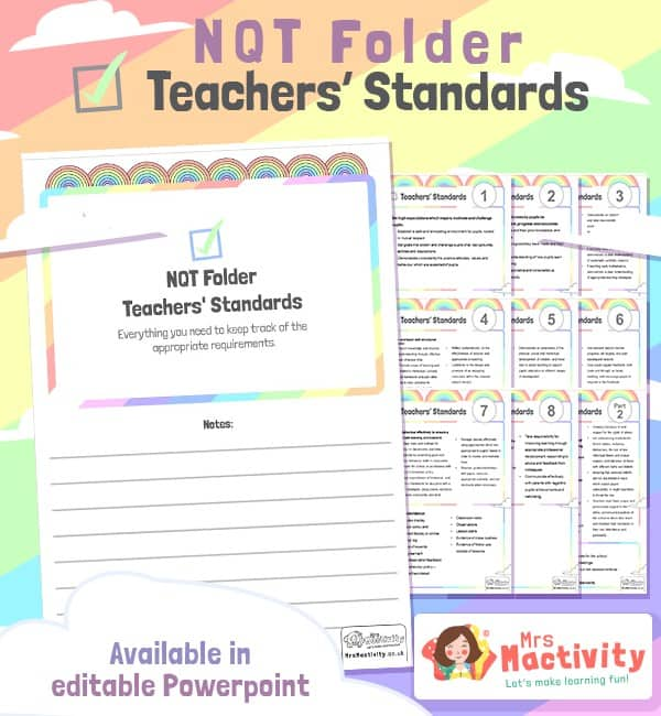 NQT Folder - Teachers' Standards - Editable