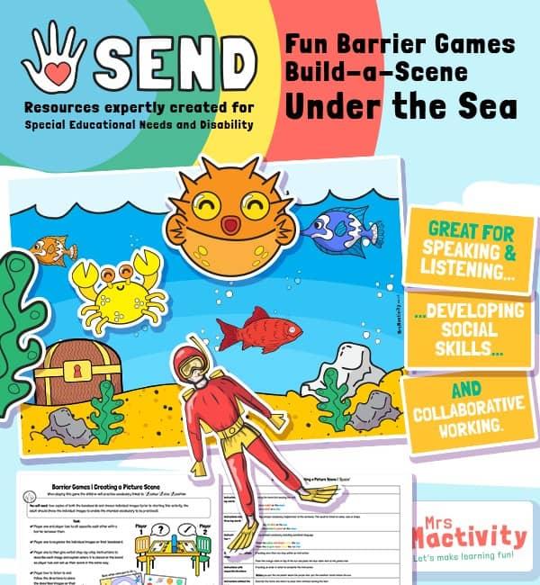 SEND Barrier Game - Build a Scene - Sea