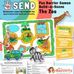 SEND Barrier Game - Build a Scene - Zoo
