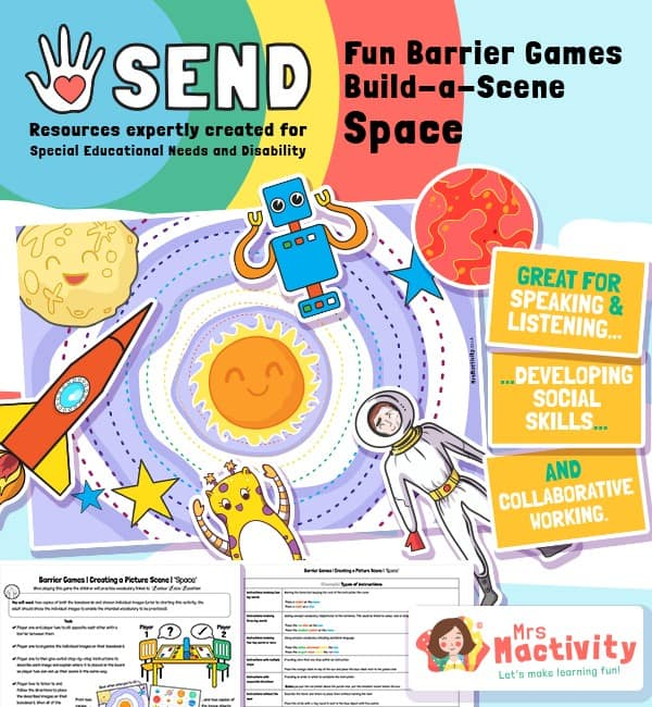 SEND Barrier Game - Build a Scene - Space
