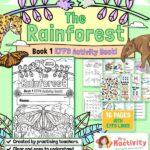EYFS (Age 3-5) Rainforest Activity Workbook