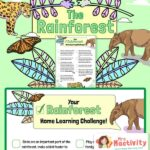 Rainforest Home Learning Challenge Checklist