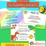Virtual Transition Starting School Invitations