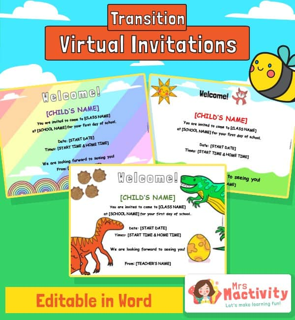 Virtual Transition Starting School Invitations