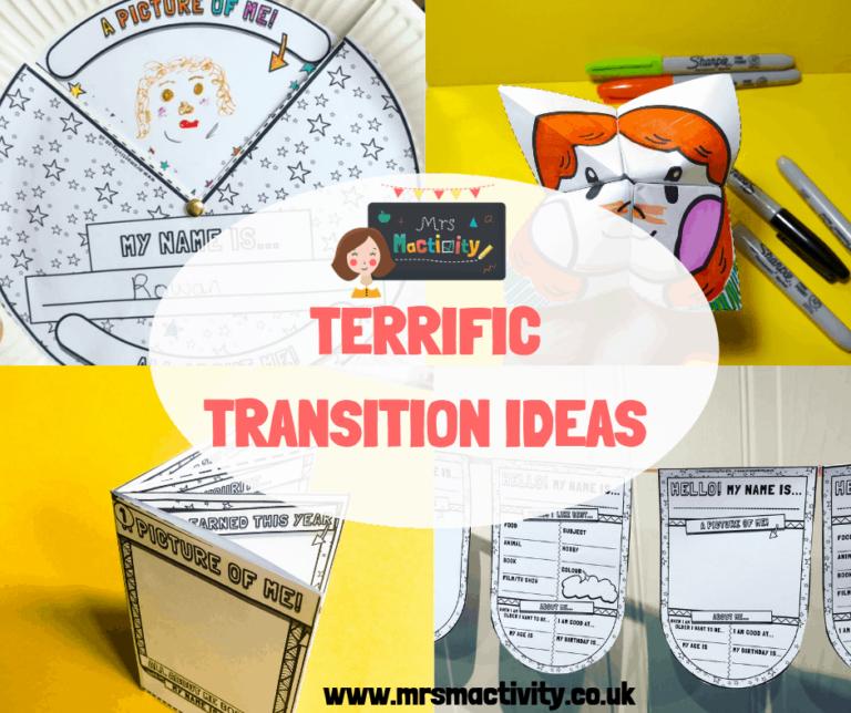 transition worksheets,