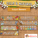 Calm and Natural Subject Display Banners