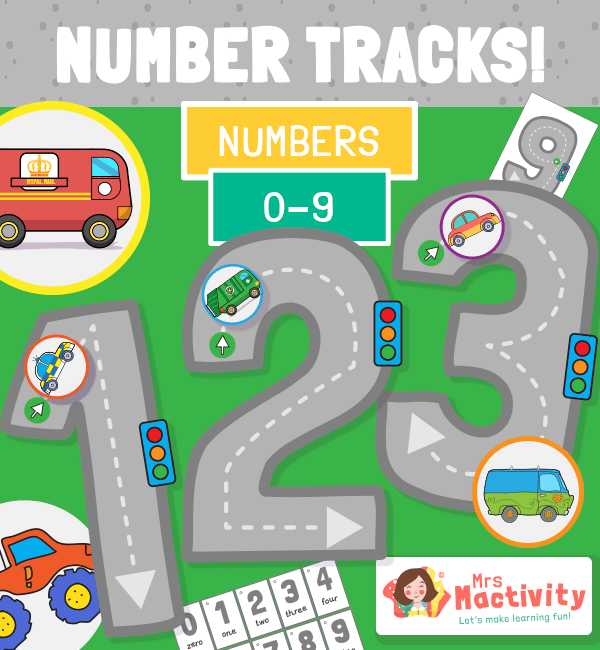 Number Tracks Number Tracing Activity