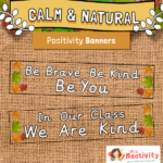 Calm and Natural Positivity Display Banners