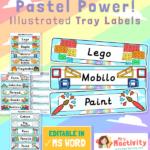 Equipment Pastel Classroom Tray Labels