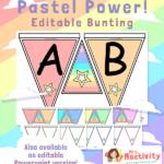 Editable Pastel Display Bunting