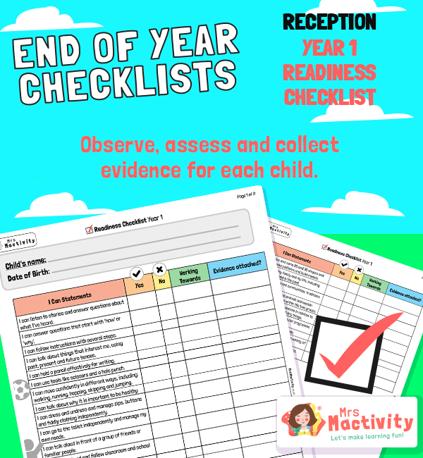 End of Reception to Year 1 Readiness Checklist