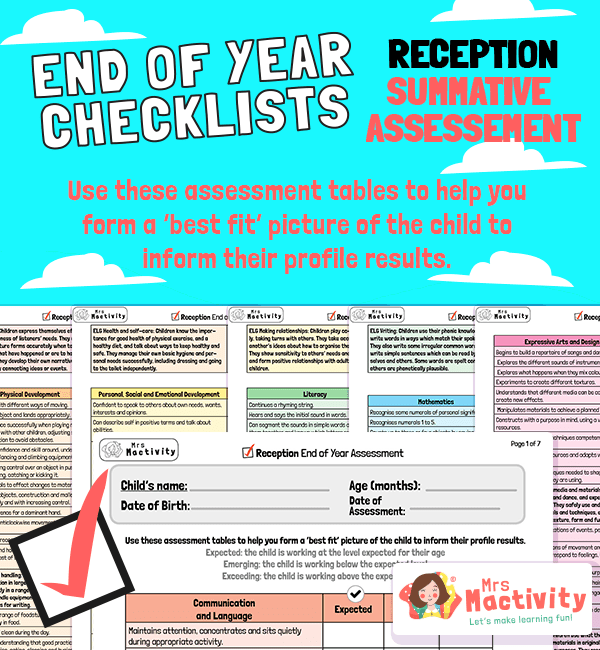 Reception End of Year Profile Assessment
