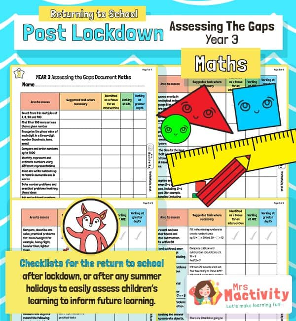 Post Lockdown Assess the Gaps Maths End of Year 3