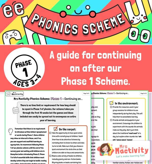 Phonics Scheme - Phase 1 Continuation Guide