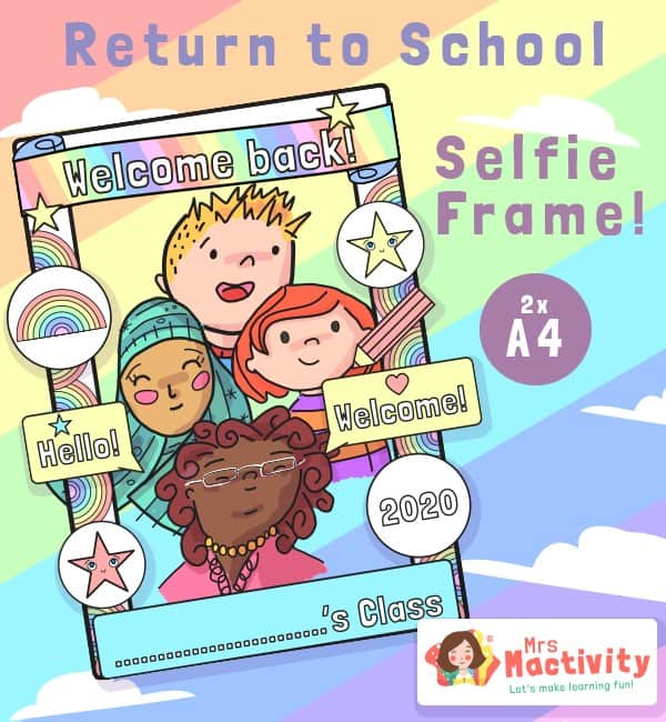 back to school selfie frame