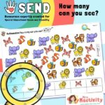 SEND P8 How Many Can You See Counting Activity - Animals