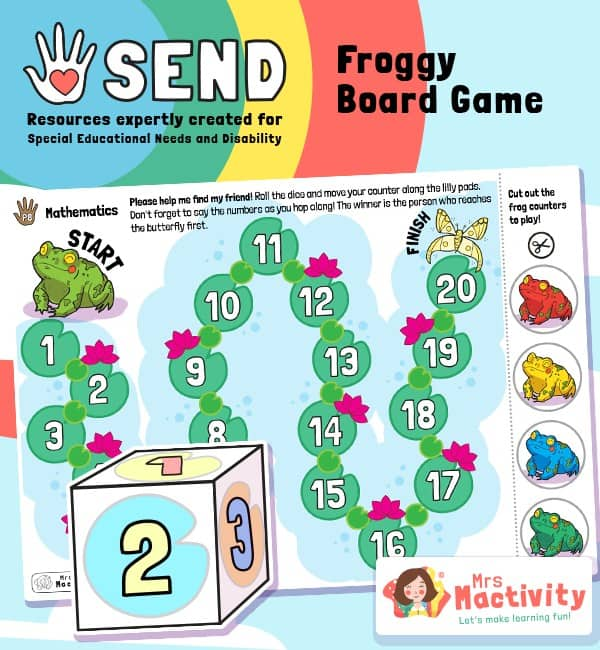 SEND P8 Counting Beyond 10 Froggy Board Game