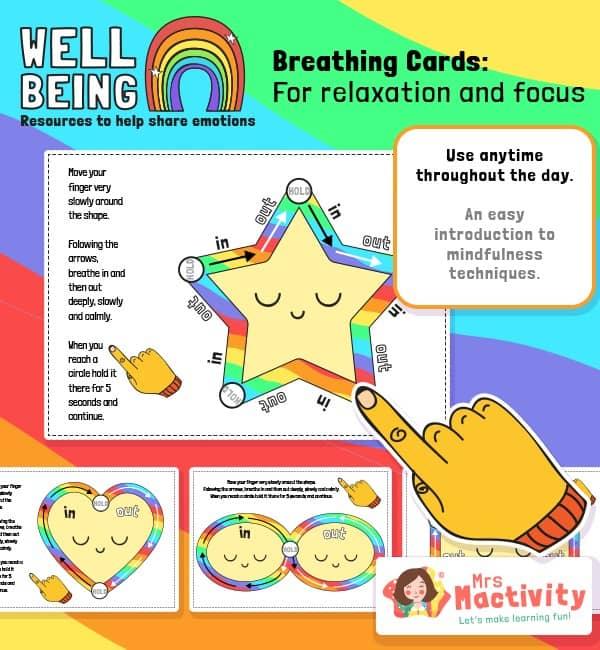 Mindfulness Breathing Exercise Cards