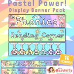 Pastel Classroom Subject Display Banner Pack