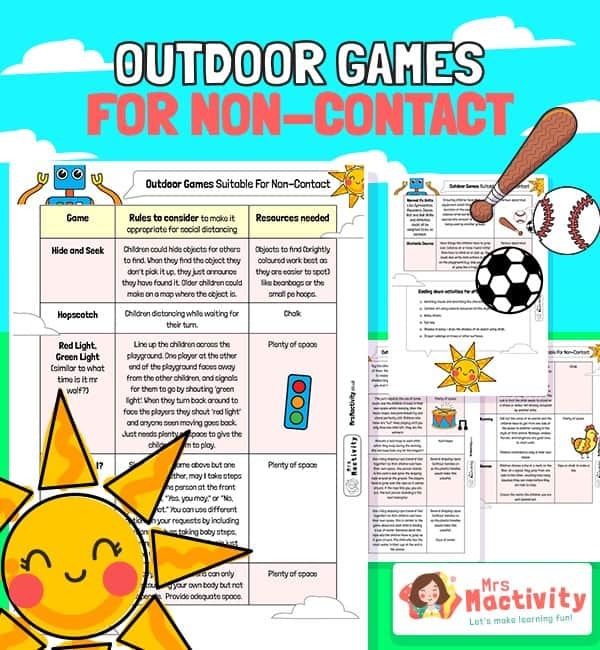 Outdoor Games for Social Distancing