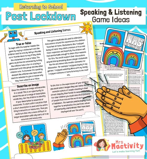 Post Lockdown Speaking and Listening Activities