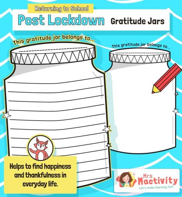 Post Lockdown Gratitude Jar Activity